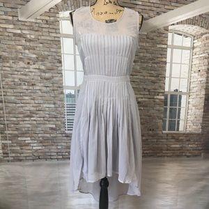 Doe & Rae pleated high low dot dress by ModCloth